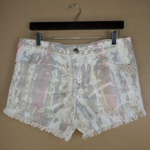 Free People Cutoff Icing Wash Shorts